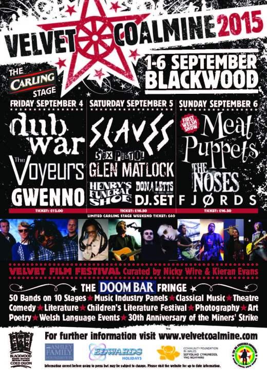 Velvet Coalmine Festival 2015